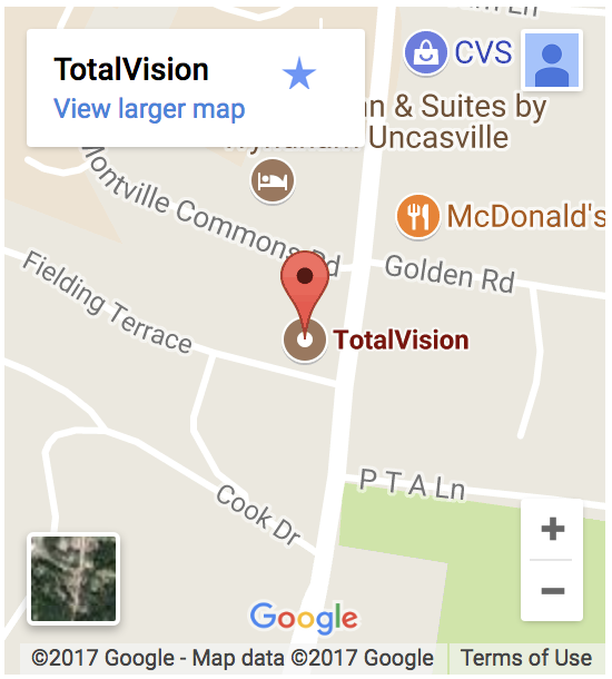 google map of uncasville location